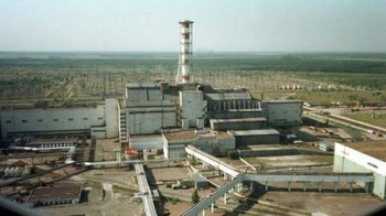 Chernobyl nuclear power plant before the nuclear accident