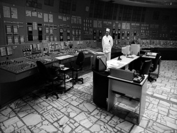 Control room of the Chernobyl nuclear power plant