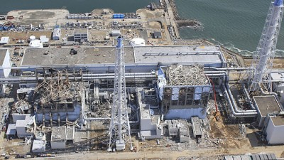 Explosion at the Fukushima Daiichi nuclear power plant.  Nuclear accident of magnitude 7 on the INES scale.