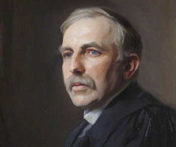 Ernest Rutherford, discoverer of the proton.